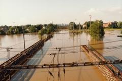 Ostrava-Svinov - pohled k nádraží 9.7.1997 - foto Mojmír Leštinský